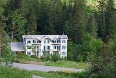 Historic hotel Rosenlaui. Switzerland. Alps mountain landscape Reichenbach Falls Royalty Free Stock Images
