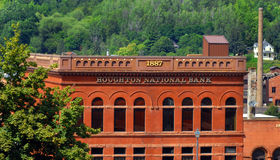 Historic Houghton National Bank Royalty Free Stock Images