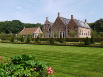 Historic house. The romantic garden of the Menkemaborg a castle in Uithuizen in the Netherlands Stock Photo