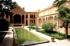 Historic house. Patio in a historic house in iran Stock Images