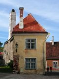 Historic house. In the Old Town of Tallinn Stock Photo