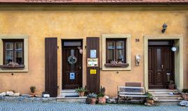 Historic house in ancient czech city - Mikulov Stock Image