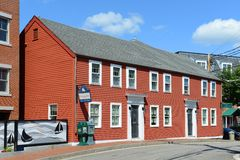 Historic House, Bow Street, Portsmouth, New Hampshire Stock Images