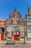 Historic house at a canal in Hasselt Royalty Free Stock Images