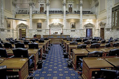 The historic House Chamber of Maryland State House Stock Images