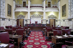 The historic House Chamber of Maryland State House Royalty Free Stock Images