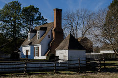 Historic house in Colonial Williamsburg, VA Royalty Free Stock Photos