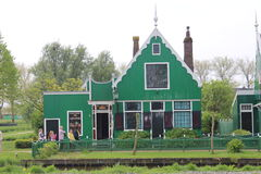Historic house in the Dutch Open Air Museum. With white-fringed details Royalty Free Stock Photography