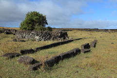 Historic House at Easter Island Stock Photos