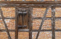 Historic house facade. Detail of a historic rural house facade seen in Southern Germany stock image
