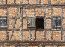 Historic house facade. Detail of a historic rural house facade seen in Southern Germany royalty free stock photos