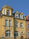 Historic house facade with jutty and gables, germany Stock Photo