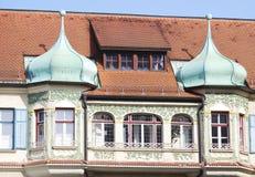 Historic house facade. In Pfaffenhofen, Germany Royalty Free Stock Photo