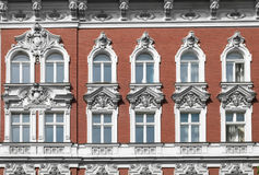 Historic house  facade - residential building exterior. In Berlin Stock Image