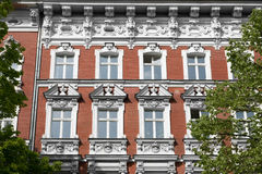 Historic house  facade - residential building exterior. In Berlin Royalty Free Stock Photography