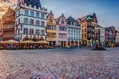 Historic House facades Main Market Trier Royalty Free Stock Photos