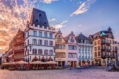 Historic House facades Main Market Trier Stock Photo