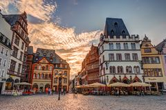 Historic House facades Main Market Trier Royalty Free Stock Image