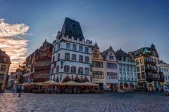 Historic House facades Main Market Trier Stock Images