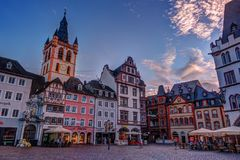 Historic House facades Main Market Trier Royalty Free Stock Images