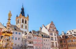 Historic House facades Main Market Trier Rhineland Palatinate Ge Stock Photography