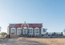 Historic house from the German era in Keetmanshoop. KEETMANSHOOP, NAMIBIA - JUNE 13, 2017: An historic old house from the German era in Keetmanshoop, the capital Stock Image