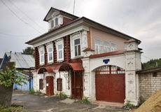 Historic house in Gorodets. Nizhny Novgorod Oblast. Russia Stock Photos
