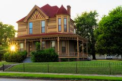 Historic Home in Fort Smith, Arkansas. Historic house and home located in the Belle Grove Historic District of Fort Smith, Arkansas Stock Photos