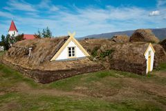 Historic house Iceland Stock Photo