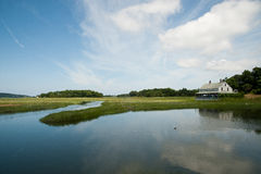 Historic house on the Marsh in Essex, MA Stock Photos