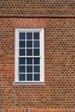 Historic House Masonry. Showing primarily header brick construction with adaptations around window, and flat arch lintel in Annapolis, Maryland USA royalty free stock photos