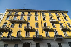 Historic house in Milan Royalty Free Stock Photos