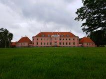 Historic house. Moesgaard garden Denmark Stock Photo