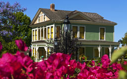 Historic House at Old Town in San Diego. Stock Photo