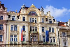 historic house at Old Town Square in Prague, Czech Republic Royalty Free Stock Photography