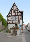 Historic house in Oppenheim. Idyllic half-timbered house seen in Oppenheim at Rhineland-Palatinate in Germany royalty free stock images