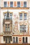 Historic house in Prague, Czech Republic Stock Image