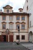 Historic House at Prague's Hradcany Stock Photography