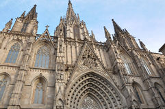 Cathedral of the Holy Cross and Saint Eulalia - Cathedral in Barcelona Stock Images