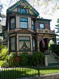 Historic House in San Jose CA. Newly redecorated victorian house San Jose California, tasetful combination of shades of brown green yellow Royalty Free Stock Image