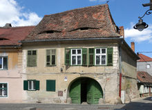 Historic house in Sibiu, Romania Stock Photography