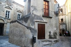 Fiumefreddo architecture house. A historic house in the town of fiumefreddo del bruzio in italy royalty free stock photo