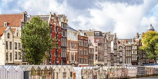 Historic houses along the Bloemensingel in Amsterdam Stock Image