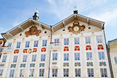 Historic houses in Bad Toelz, Bavaria Royalty Free Stock Images