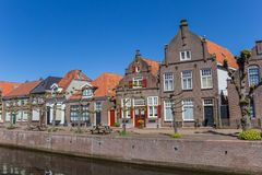 Historic houses at a canal in Hasselt Royalty Free Stock Images