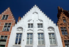 Historic houses in the center of Bruges Royalty Free Stock Images