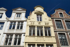 Historic houses in the center of Bruges (Belgium) Royalty Free Stock Photography