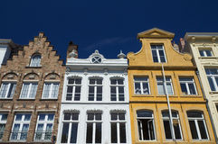 Historic houses in the center of Bruges (Belgium) Stock Photos