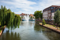 Historic houses in the center of Strasbourg royalty free stock photo