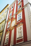 Historic houses in the centre of Prague Royalty Free Stock Image